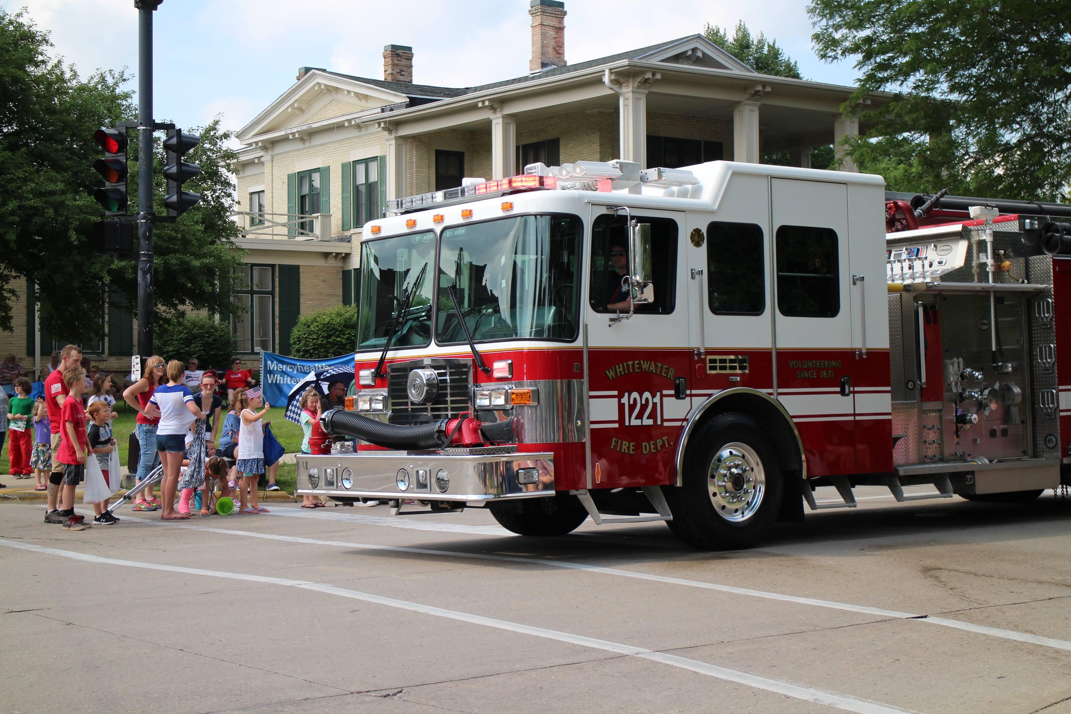 Fire truck parade participant